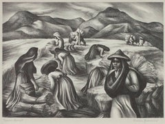 """Mexican Harvest,"" Original Lithograph signed by Marion Greenwood"