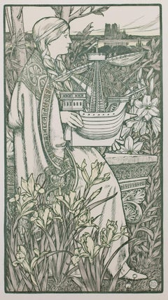 """Lutece (L'Estampe Moderne II),"" Original Color Lithograph by Adolphe Giraldon"