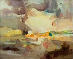 """Eastern Land & Sky,"" Oil on Canvas signed by Ananda Kesler"