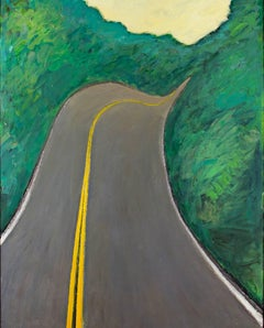 """Velvet Highway (Hwy. K),"" Oil on Wood signed on Verso by Robert Richter"