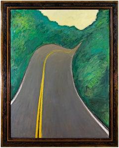 """""""Velvet Highway (Hwy. K),"""" Oil on Wood signed on Verso by Robert Richter"""
