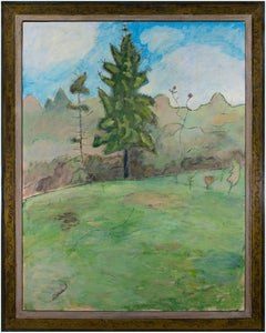"""""""Touch of Spring,"""" Oil on Wood signed by Robert Richter"""