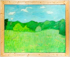 """""""Spring Meadow,"""" Oil on Wood signed by Robert Richter"""
