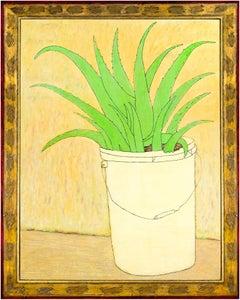"""Aloe,"" Oil on Wood Still Life signed by Robert Richter"
