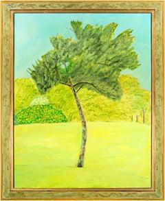 """Brush Tree,"" Oil on Wood signed by Robert Richter"