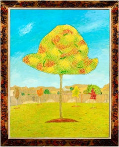 """""""Candy Oak,"""" Oil on Wood signed by Robert Richter"""