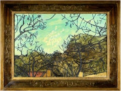 """""""Evening Sky,"""" Oil on Wood signed by Robert Richter"""