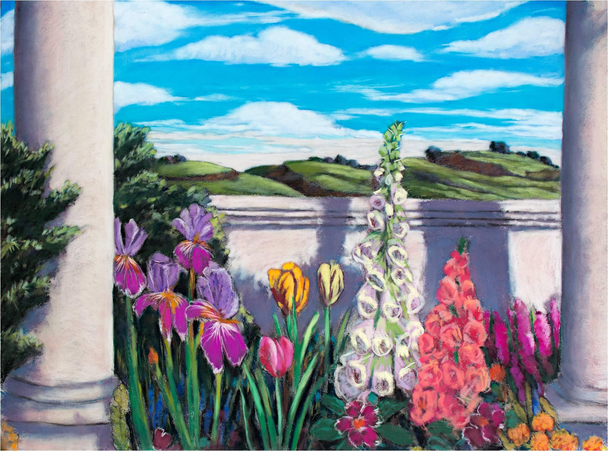 """""""Garden of ZM 16,"""" Pastel on Paper signed by Victoria Ryan"""