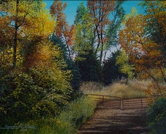 """An Iron Gate,"" Oil on Canvas signed by Gregory D. Steele"