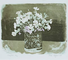 """Campions,"" Lithograph Still Life by Sheila Stafford"