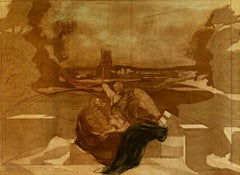 """""""Nicolas Poussin, Homage,"""" Color Lithograph signed by Claude Weisbuch"""