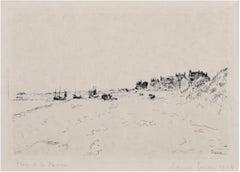 """""""La Plage de la Panne,"""" Seascape Etching signed by James Ensor"""