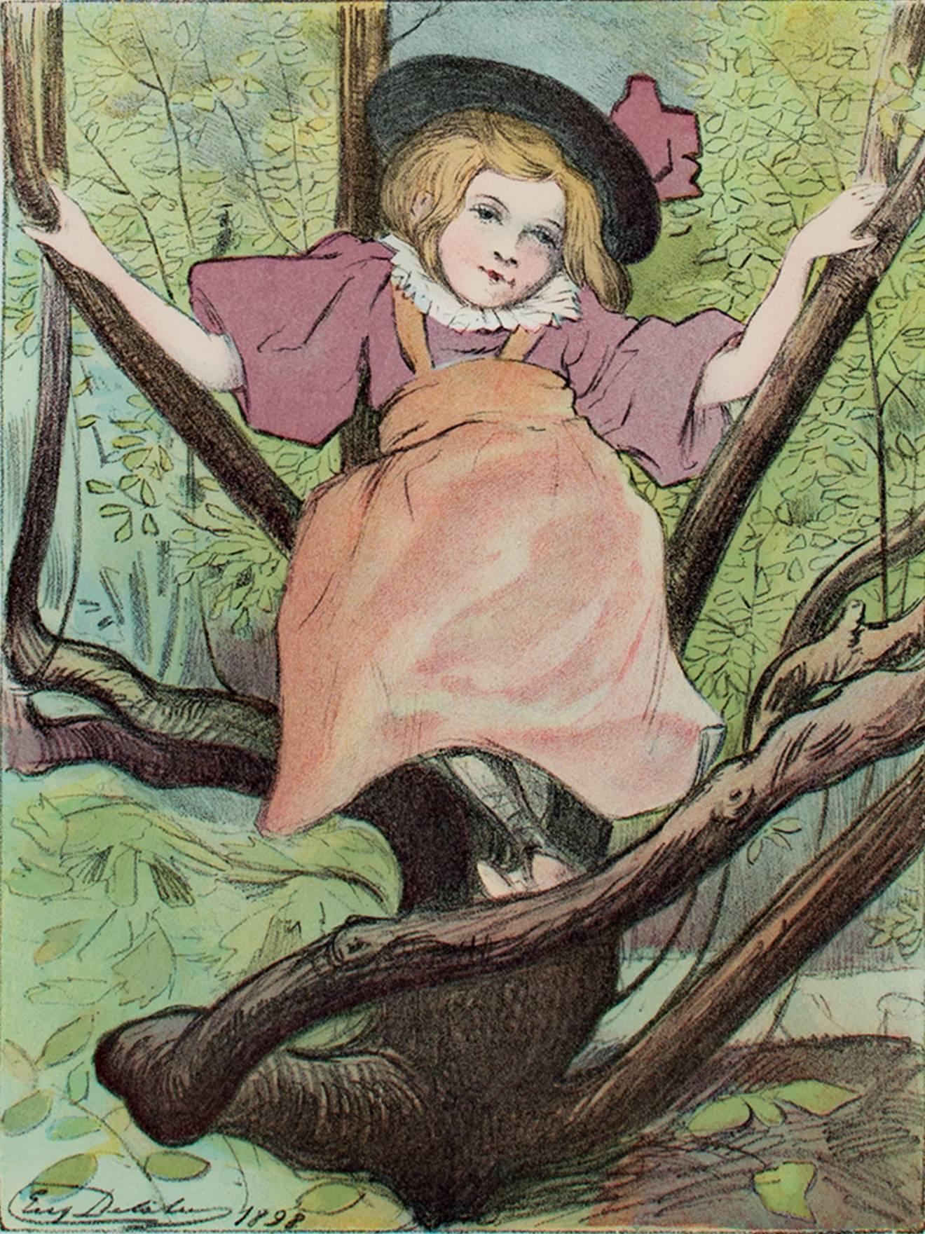 """""""Kacia,"""" Original Color Lithograph by Eugene Delatre"""