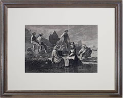 """""""SEESAW--Gloucester, Massachusetts,"""" Wood Engraving signed by Winslow Hommer"""