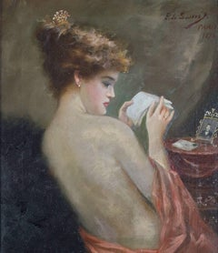 Portrait of Woman with Letter