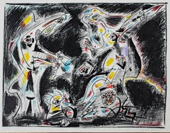 """""""Judith,"""" Color Lithograph signed by André Masson"""