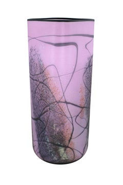 """Purple Matte Vase,"" Hand Blown Glass signed by Ioan Nemtoi"