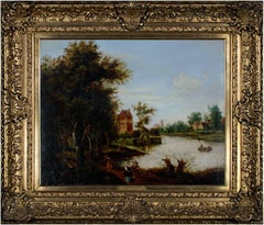 """""""A Dutch Canal"""" oil painting from the circle of Aert van der Neer"""