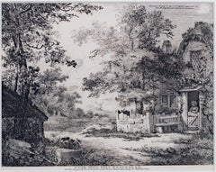"""Near Mill Hill, Gravesend,"" Original Etching Landscape by John Thomas Smith"