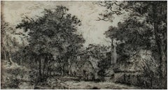 """Country Inn by the Pond,"" Etching by John Thomas Smith"
