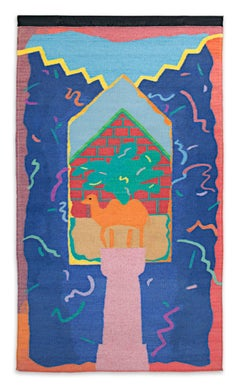 """Egyptian Prayer Rug,"" Wool Tapestry from a Edition of 3 by Joan Ward Summers"