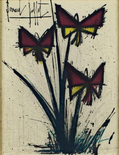 """Pensées,"" Original Color Lithograph signed by Bernard Buffet"