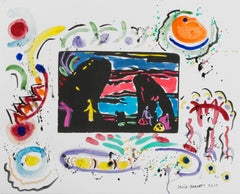 """Famous Artist Series: Homage to Wassily Kandinsky after 1911 ""Anders"" figures"""