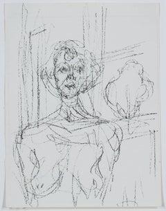 """""""Annette,"""" Original Black & White Lithograph by Alberto Giacometti"""