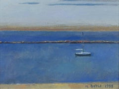"""Lake Michigan Morning, South Shore Park,"" Oil on Canvas signed by Michael Boyle"