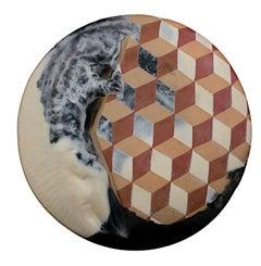 """Wall Piece with Figure,"" Terra Sigillata by Christine LePage"