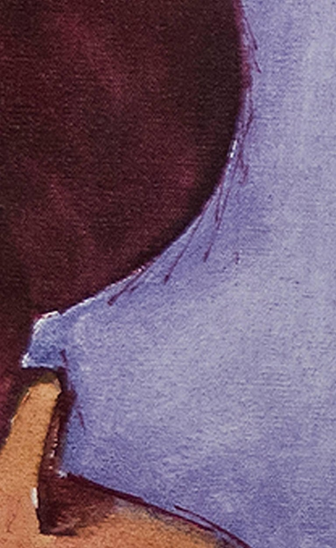 Vestido de la Region (Regional Costume) - Cuzco - Brown Portrait Painting by Abelardo Marquez Velazquez
