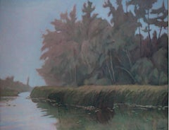 """Early Morning Mist,"" Oil on Canvas signed by Howard Schroedter"