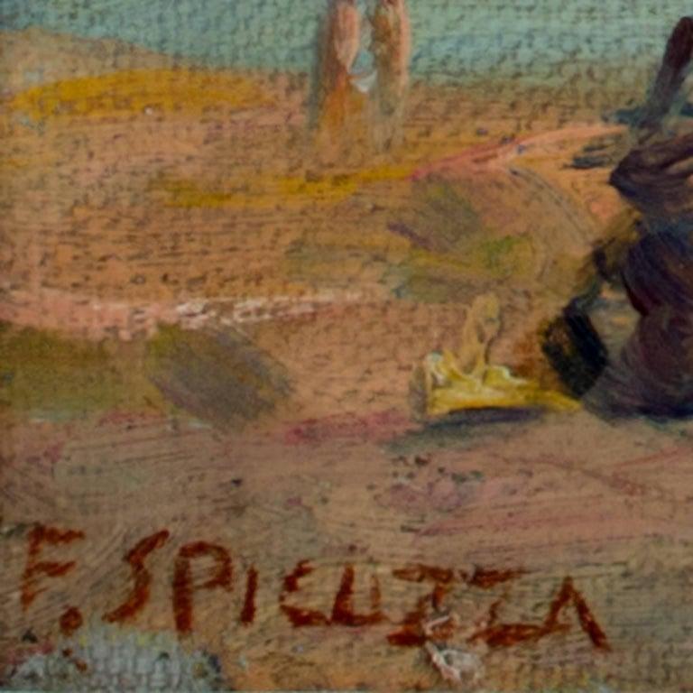 Lake Michigan Beach Scene - Painting by Francesco Spicuzza
