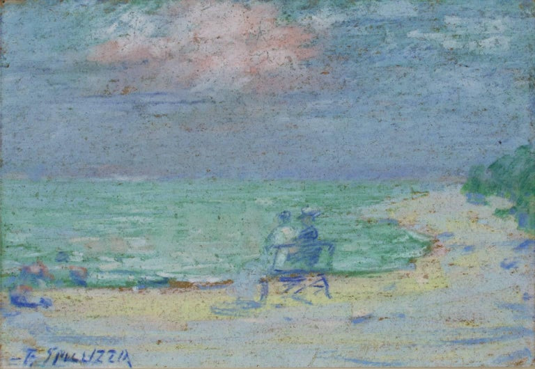 Couple on Bench at the Beach