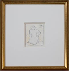 """""""Untitled (Woman),"""" Color Pencil Sketch signed by Angelika Thusius"""