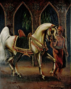 """""""The Quest,"""" Original Oil Painting of a Horse signed by Linda Steffen Williams"""