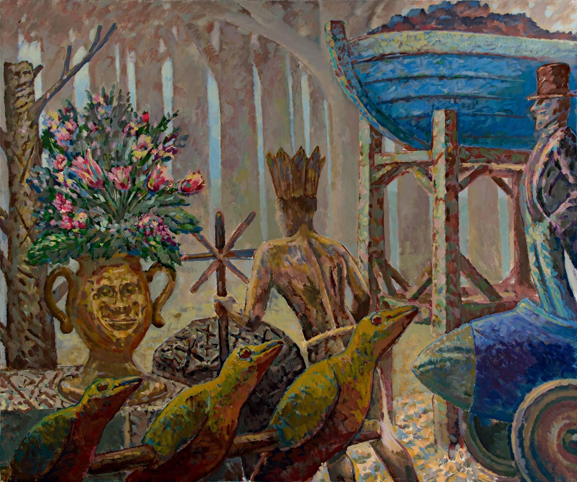 """King's Canaries,"" Acrylic Still Life by Randall Berndt"