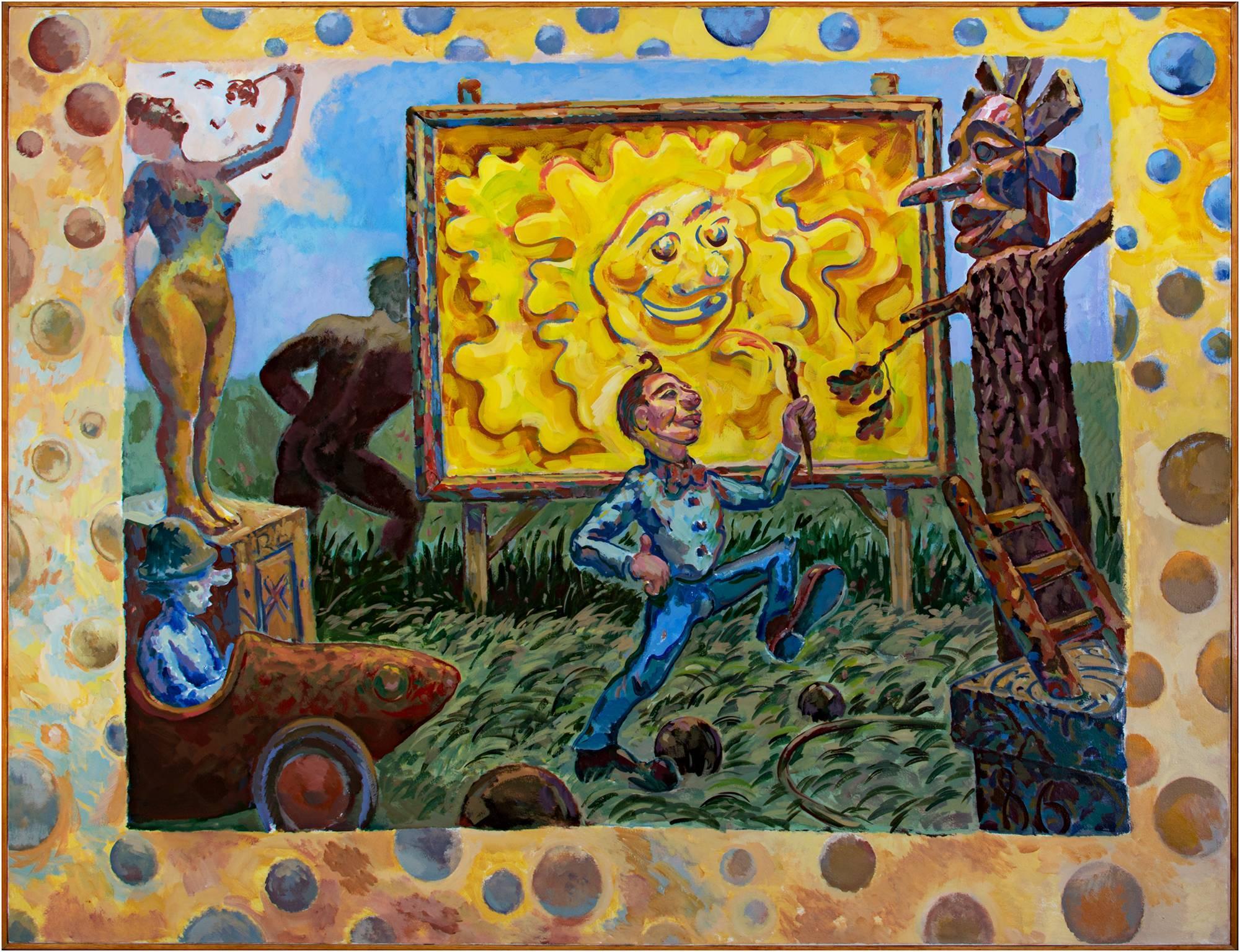 """Artist In Heliopolis,"" Acrylic on Canvas by Randall Berndt"