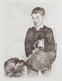 """The Urchin (Le Gamin) -Second and Final State,"" Etching signed by Edouard Manet"
