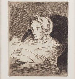 """The Convalescent - Third and Final State,"" Etching by Edouard Manet"