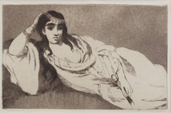 """Odalisque,"" Original Etching and Aquatint Portrait by Edouard Manet"