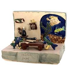 """""""Undersea Living,"""" Ceramic signed on Verso by Bill Reid"""