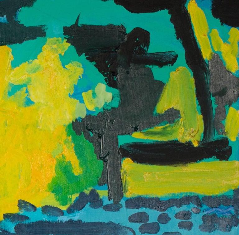 Humeur de Printemps (Spring Mood) - Blue Landscape Painting by Maryam Alakbarli