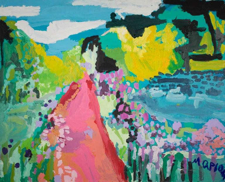 Maryam Alakbarli Landscape Painting - Humeur de Printemps (Spring Mood)