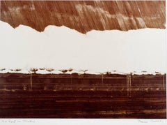 """""""Tin Roof in Winter (White Thatch),"""" Sepia Photograph signed by James Auer"""