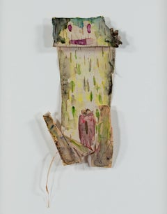 """Tree Frog Spirit: Up North Series,"" watercolor on birch by David Barnett"