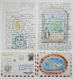 Homage to Picasso: Letter and Postage Stamp from Nice, France: Variation II