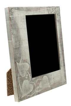 Handmade 12K White Gold Leaf Photo Frame