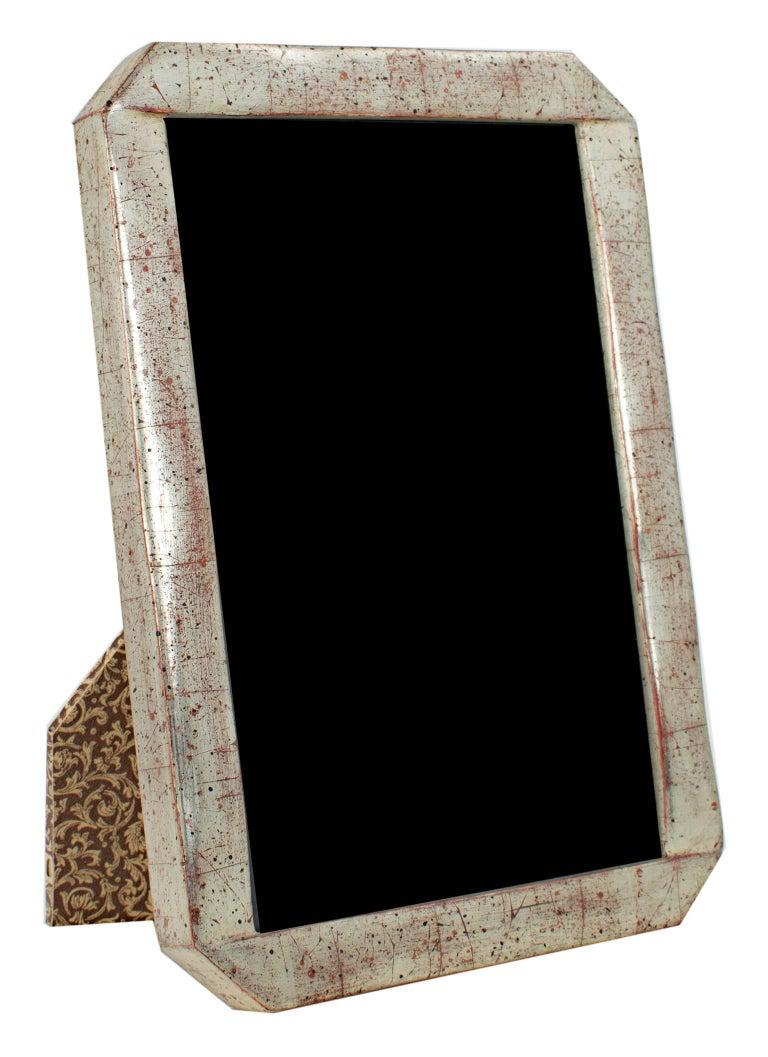 Handmade 12K White Gold Leaf Photo Frame