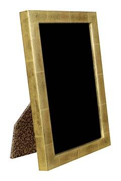 """Handmade 22K Gold Leaf Photo Frame,"" Wood with UF5 Plexiglass made in Romania"